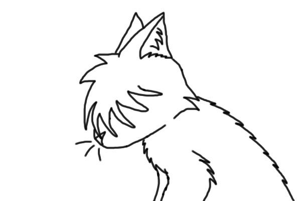 A Sad Cat Drawing