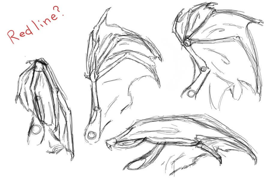 how to draw folded wings