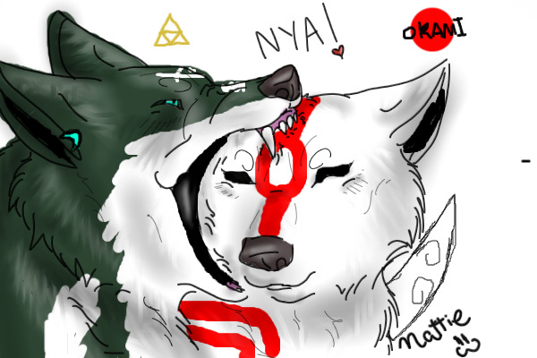 Okami And Wolf Link Wolf Link And Okami by RavenWolf Link And Okami