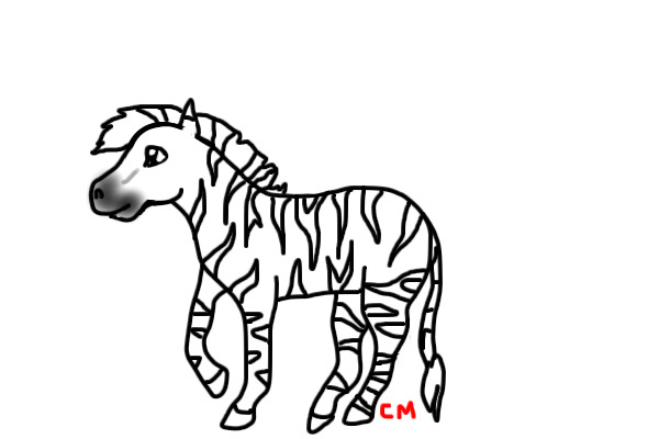 Line Drawing Zebra : View topic zebra line art yeaaay chicken smoothie