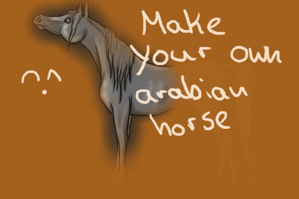 how to make you own horse on a program