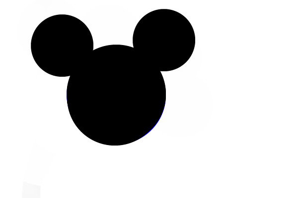 mickey mouse silhouette clip artBlack Mickey Mouse Head Clipart