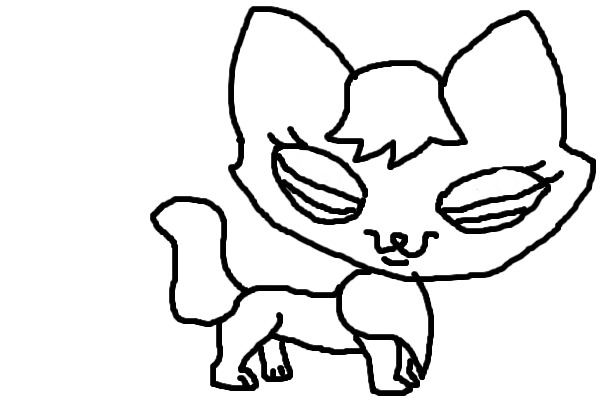lps coloring pages fox   View topic - LPS FOX COLOR IN - Chicken Smoothie