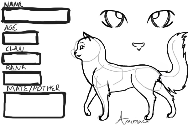 warrior cats coloring pages starclan - photo#42