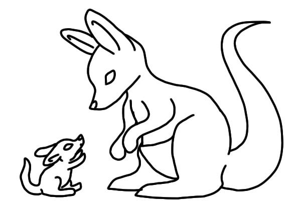 Line Drawing Kangaroo : View topic kangaroo lines chicken smoothie