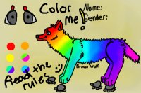 color me ! another wolf editable .