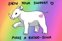 Show your support: make a rhino-sona