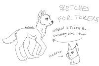 Sketches for tokens!! Cheap!