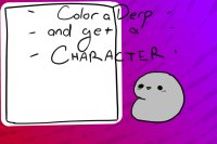 Color the Strange Thingy and Get a Character!