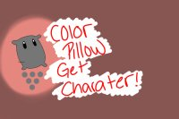 color in a pillow get a character !