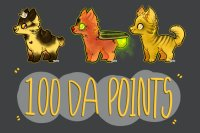 Summer Themed 100 DA Points Adopts