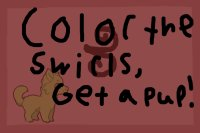 Color the Swirls, Get a Pup!