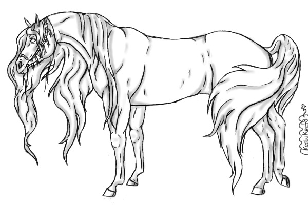 View Topic Arabian Horse Lineart Chicken Smoothie