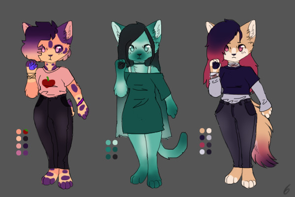 Anthro cat adopts closed