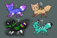 Color a crystal, get a fox! ~ Group 1