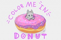 Donut Color Me In