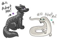 Inktober Adopts: Day 10 and 11