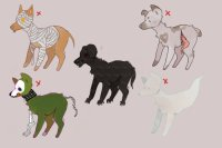 ONE LEFT - monster canine adopts