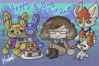 It be my Birthday wit mah fave VG Rabbits <3