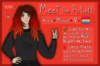 meet the artist (and ask questions ig)