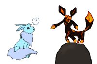Ice Flareon and Magma Glaceon