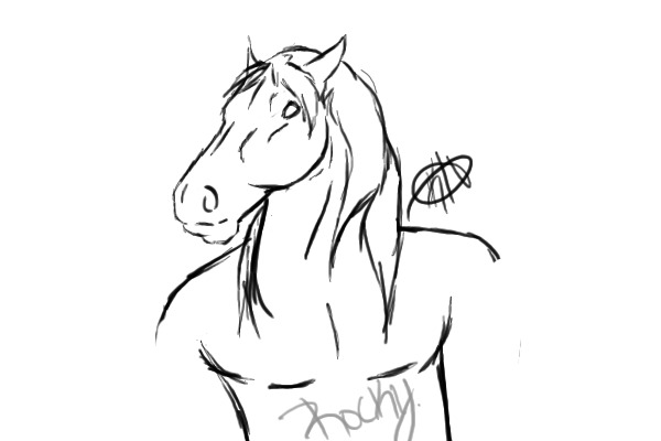 Drawing Male Horse
