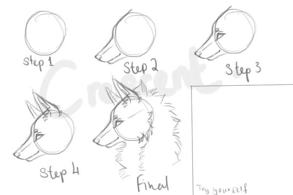 Wolf head tutorial for shadowwolf894 by crescent